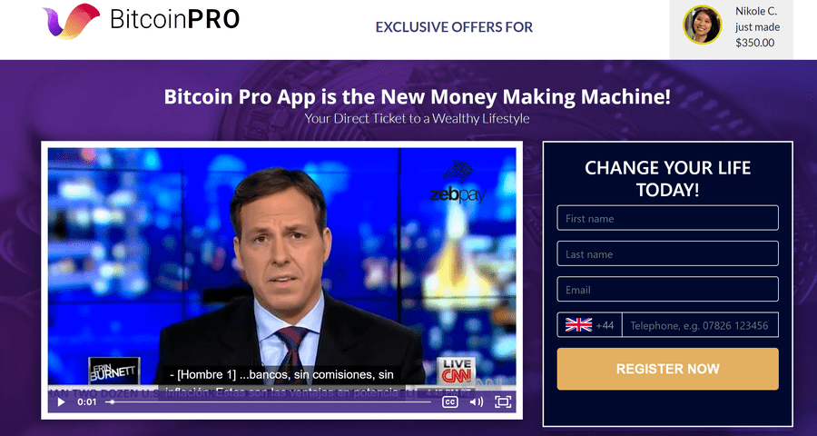 It is not a scam, Bitcoin Pro is getting the best reviews! Check out forum reviews, learn about the registration and logging in process!