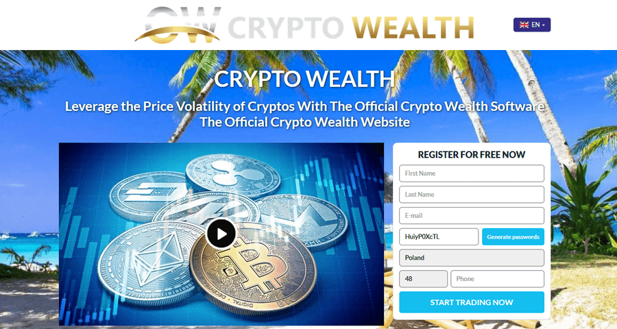 Crypto Wealth: read forum reviews and opinions, to avoid becoming a scam victim! Account registration and logging in – step by step.